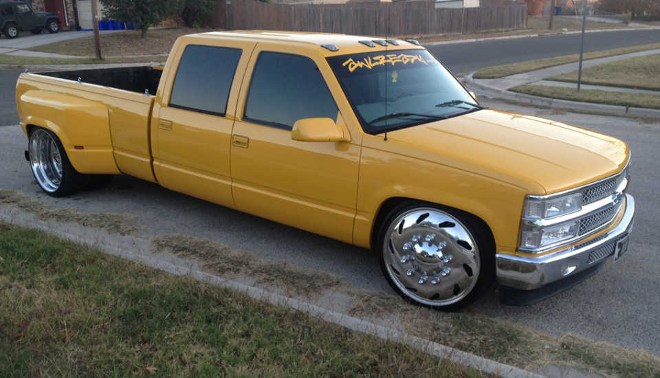 Yellow Chevy 3500 24 Freightliner Jr Forged Wheels